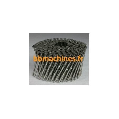 Pointes Rouleau plat 16° 2,1x32 mm Lisses Acier brut