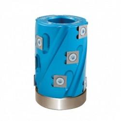 Porte outils hélicoïdal à calibrer, chantourner et dresser