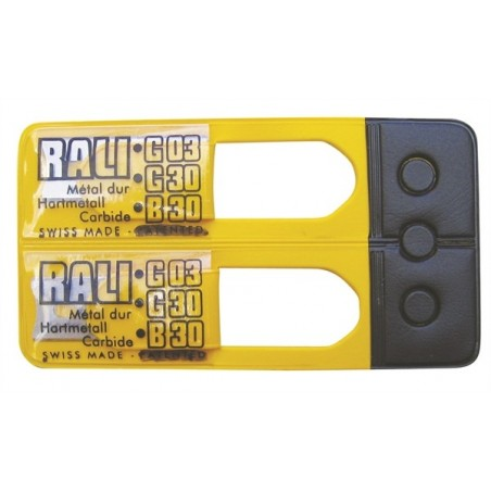 Lames de rechange pour rabot RALI® POCKET, G03, G30, B30 - carbure