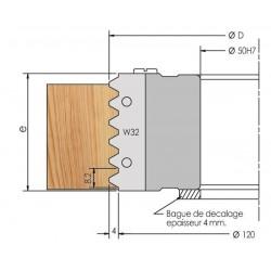 Porte-outils empilable pour joints collés à fond plat à plaquettes
