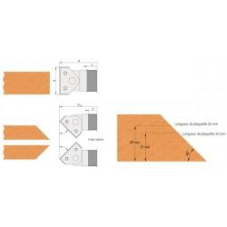 Porte-outils a géometrie variable à plaquettes