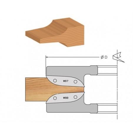 Porte-outils à plate-bande profil à gorge à plaquettes