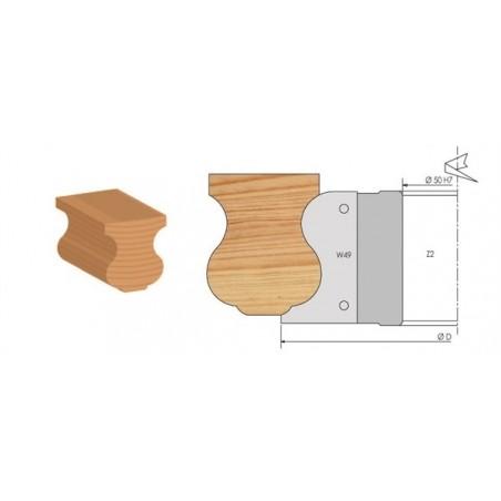 Porte-outils moulure main courante à plaquettes